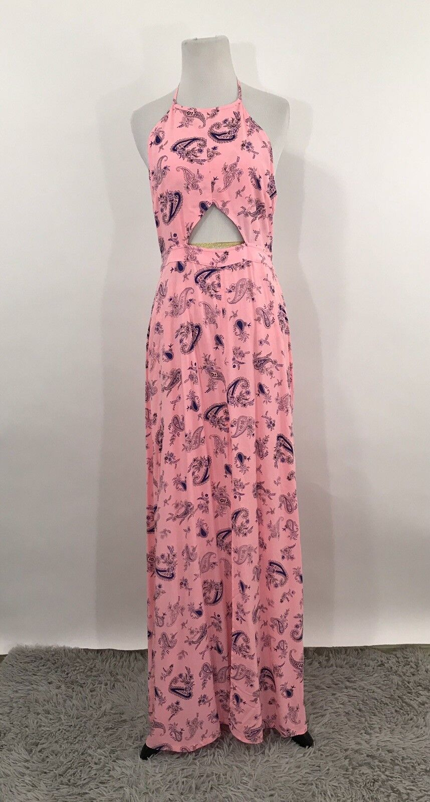 Wildfox Women's Liberty Paisley Print Maxi Dress Pink S