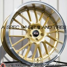 GOLD 20X9 20X10.5 +40 STR 514 5X114.3 RIM LEXUS GS300 SC300 IS250 350Z STAGGERED