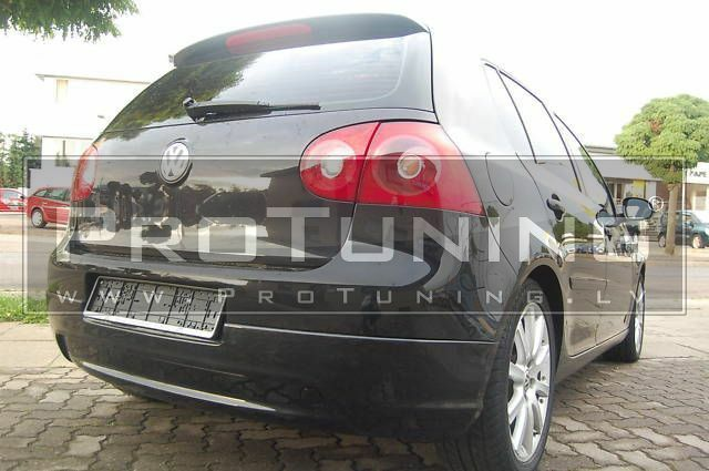 VW GOLF MK5 V 03-08 REAR BUMPER LIP spoiler GTI style VALANCE addon Diffuser