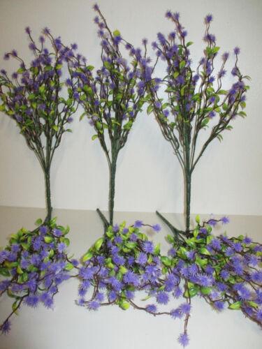 Deko künstliche Mimose lila Mimosen Busch Kunstblumen Blumen Floristik wie echt