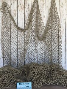 Authentic Used Fishing Net 5'x10' ~ Commercial Fish Netting ~ Old Vintage Decor