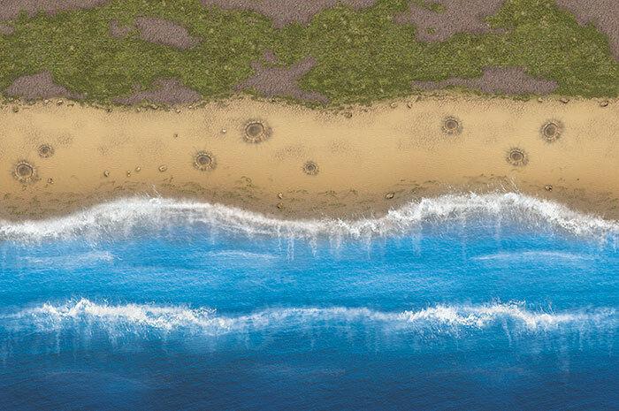 Vinyl wargaming battlemat, omaha beach 180 120 cm x 180 beach cm ef3718