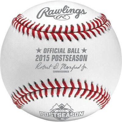 Rawlings MLB Official 2015 Postseason Game Baseball in Display Cube