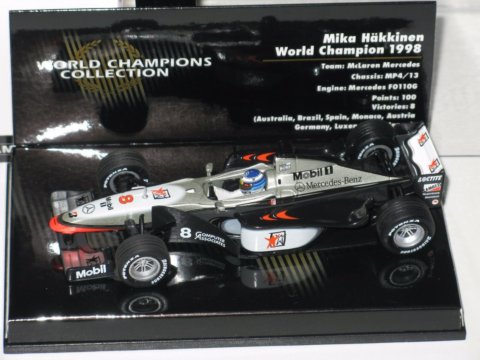 Mclaren MP4 13  WC.1998 - Hakkinen - F1 1 43 Minichamps  No Spark