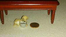 Welpe Hund Figur Puppenhaus Puppenstube 1:12 Miniatur Dollhouse pet dog 04