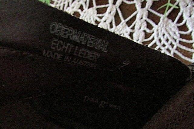 New  Paul Paul Paul Green Diandra Brown Leather Western Women's Ankle Boots SZ 7B de2a37