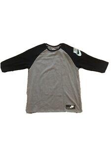 Men-s-Nike-The-Nike-Tee-Athletic-Cut-Gray-Long-Sleeve-Tee-Size-XL