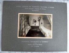 PHOTO CABINE 1°CL BATEAU PAQUEBOT VAPEUR FORMOSA circa 1914 SGTM MARSEILLE N°3