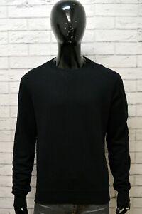 Felpa-Maglione-Nero-Uomo-BELSTAFF-Taglia-XXL-Pullover-Sweater-Cotone-Cardigan