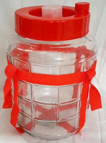 Universelles Glas mit Gärsystem Gärbehälter Glasballon Gärballon  Weinballon