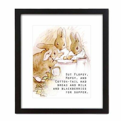 The Tale of Peter Rabbit Beatrix Potter Orignal and Authorized Art Print 16x20
