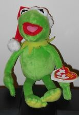 Ty Beanie Baby ~ KERMIT the Frog (Santa Hat - Walgreens Excl) (9.5 inch) ~ MWCT