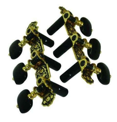 Alice Fat Boy Classical Guitar Tuners with Ebonite Buttons MHC30B Luthier Supply