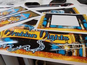 Corvette Pinball Cabinet Full Decal Set Licensed Next Gen Printing Mr Pinball
