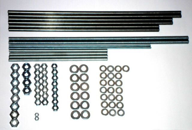 Iron Smooth & Threaded Rods & Nuts kit for Prusa i3 Frame Reprap 3D printer part