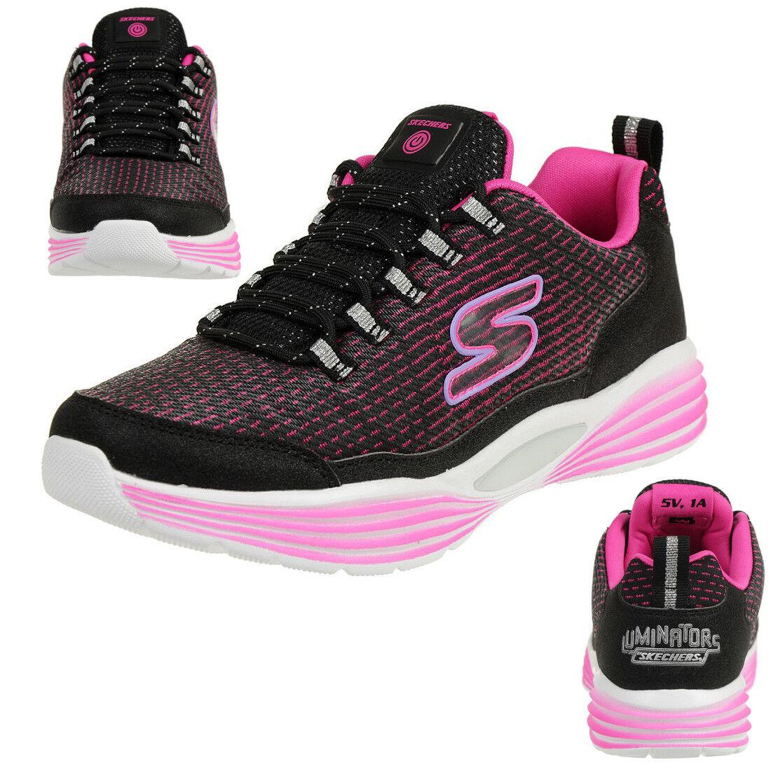 Skechers S Lights Luminators Luxe Zapatilla de Niña Blink Blink Blink Zapatos Led  marca en liquidación de venta
