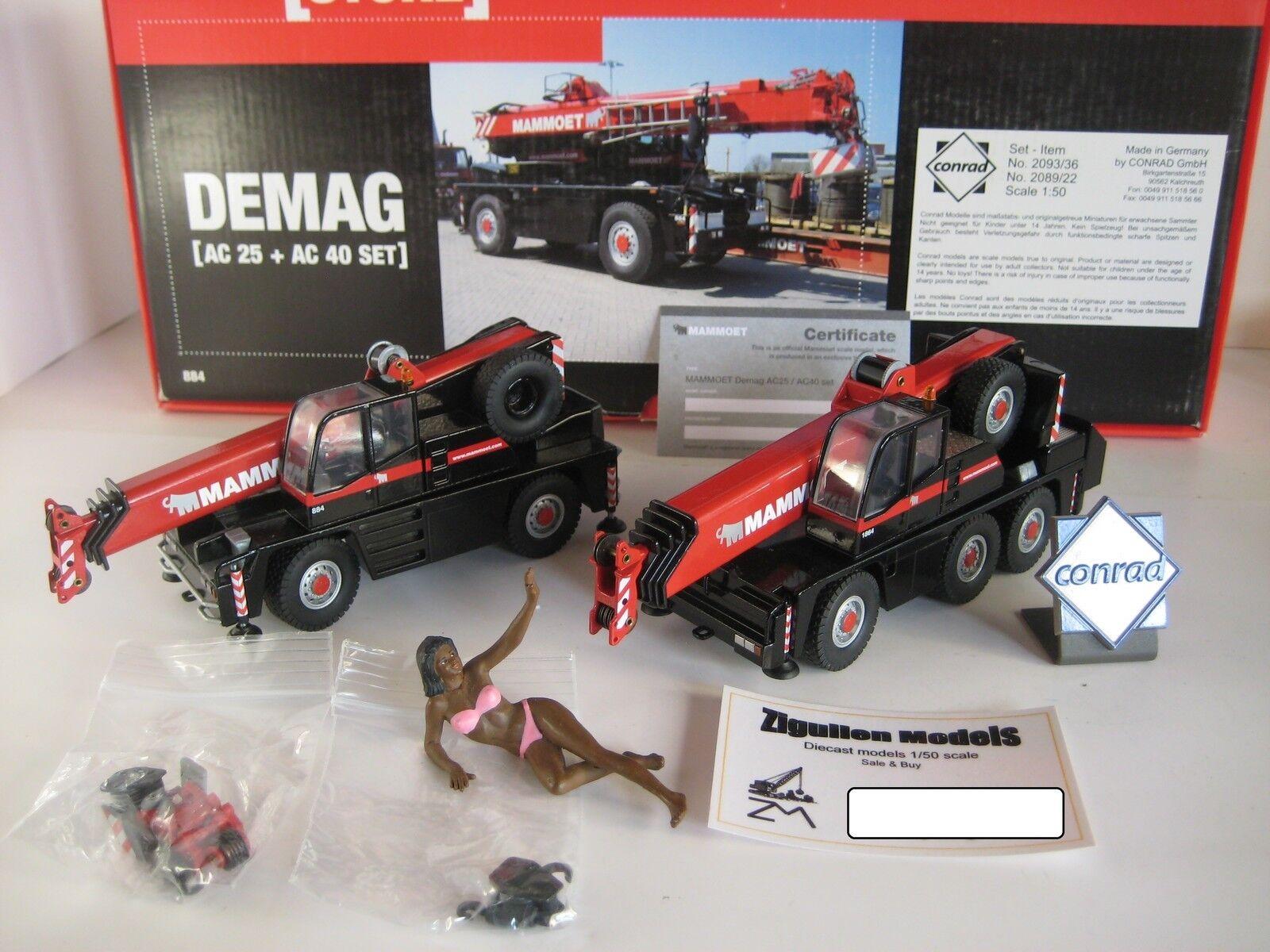 Demag AC 40-1 & AC 25 Cranes Mammoet  2093 & 2089 Conrad 1 50 OVP