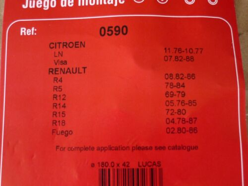 QUICK BRAKE Bremsbacken Zubehörsatz 0590 Bremsfedersatz NEU OVP Renault Citroen