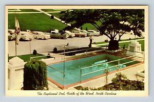Chrome-View-of-Baptismal-Pool-Church-Of-God-Of-Prophecy-Murphy-NC-Postcard-X26