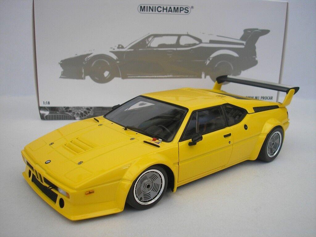 Bmw m1 procar schlicht körper version 1979 gelb 1   18 minichamps 180792998 neu