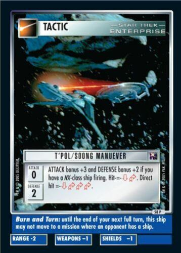 Soong Manuever FOIL 58P Star Trek CCG Enterprise Collection T/'Pol