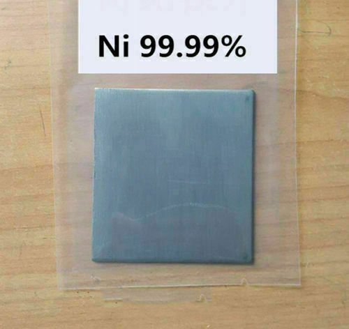 Pure Nickel Metal Thin Sheet Plate 0.5mm x 200mm x 200mm Electroplating Anode
