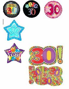 Image Is Loading Happy 30th Birthday Balloons Party Ware Decoration Age