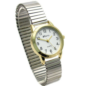 Image Is Loading Ravel Las Easy Read Quartz Watch Expanding Bracelet