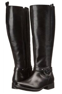 9586f64238a CLARKS Plaza Market Knee High Women s Riding Boots Black Leather ...