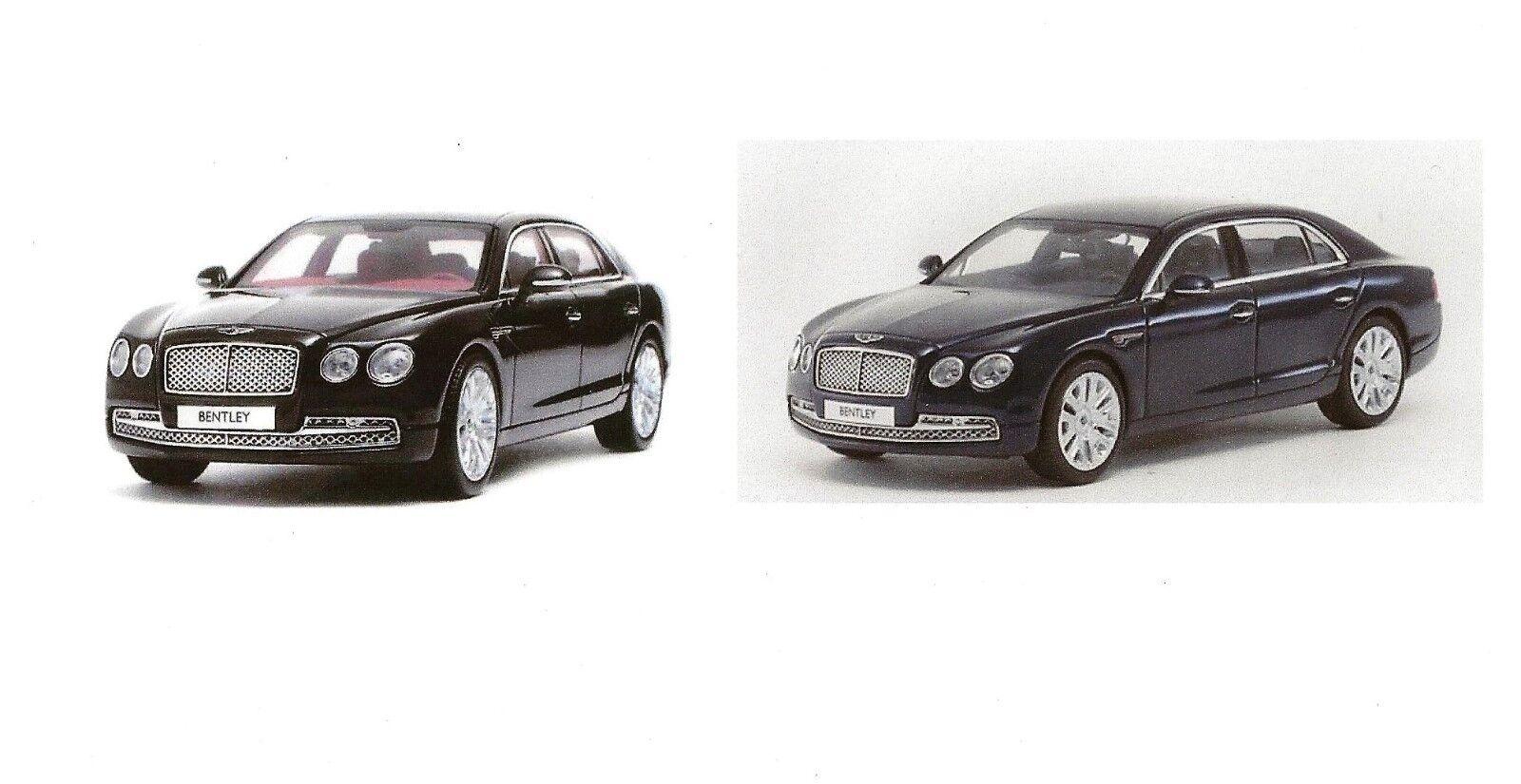 Kyosho 05561NX & 05561PC, Bentley Flying Spur W12 Onyx Noir & Bleu Paon