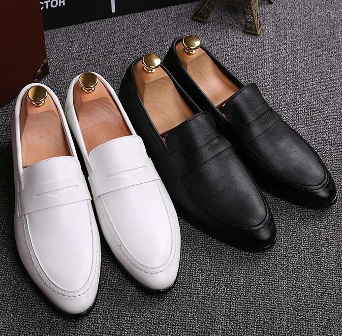 Uomo Wedding Oxford Slip Pelle On Loafers Loafers Loafers Pelle Slip British Casual   4e0596