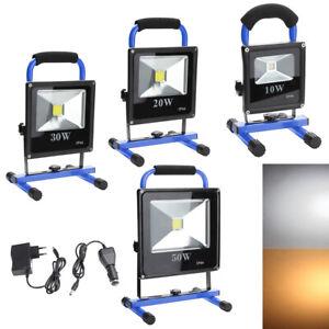10~50W LED Foco Recargable Foco proyector Lámpara Exterior Lámpara Camping IP65