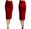Ladies-Plain-Office-Womens-Stretch-Bodycon-Elegant-Midi-Pencil-Skirt-Dress-S-XXL thumbnail 13