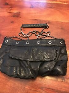 Details about Converse One Star Black Small Shoulder Bag Purse With Chain Strap VGUC (BB)