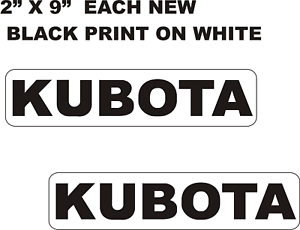 Car Bumper Sticker Outdoors Window Kubota x2 Vinyl Decal Tractor Equipment