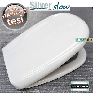 Sedile Wc Chiusura Rallentata.Dettagli Su Nuovo Sedile Wc Tesi Ideal Standard Chiusura Soft Close Rallentata Acb Ercos