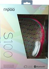 Rapoo S100 Bluetooth Headset 20Hrs Battery life 3Hr Charge Pink Brand New