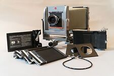Calumet 4x5 Large Format Monorail View Camera with 90 mm Lens & LOTS of Extras