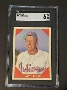 1960 Fleer #79 Ralph Kiner HOF SGC 6 New Label Recently Graded