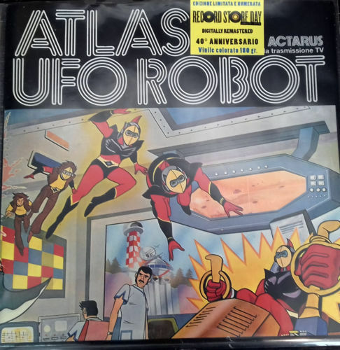 goldrake LP Disk Vinyl Atlas UFO Robot Grendizer Limited Edition & Numbered