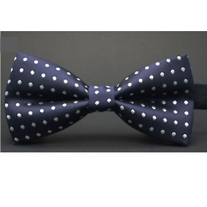 Luxury Dark Navy Blue Men/'s Adjustable Bow Ties White Dots Bowtie