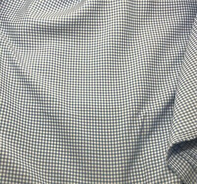 """46/"""" Wide Lt-Blue /& White Gingham on Looser-Weave Cotton C1760 By-the-Half-Yard"""