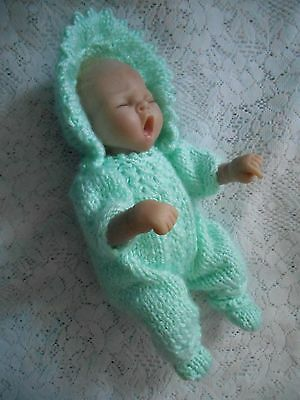 "Doll Clothes Mint Green Vintage Style romper set Fit baby Truly Real 10""  12"""