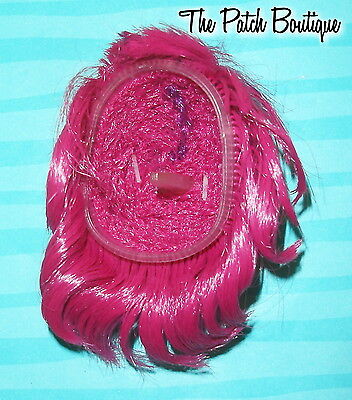 MONSTER HIGH CREATE A MONSTER CAM GHOST DOLL REPLACEMENT PINK & PURPLE SHORT WIG
