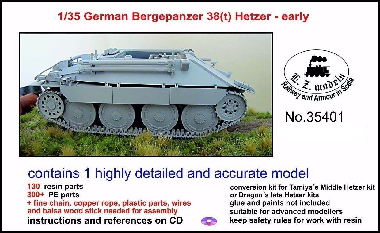 LZ MODELS GERMAN BERGEPANZER 38(t) HETZER EARLY VERSION Scala 1 35 Cod.35401