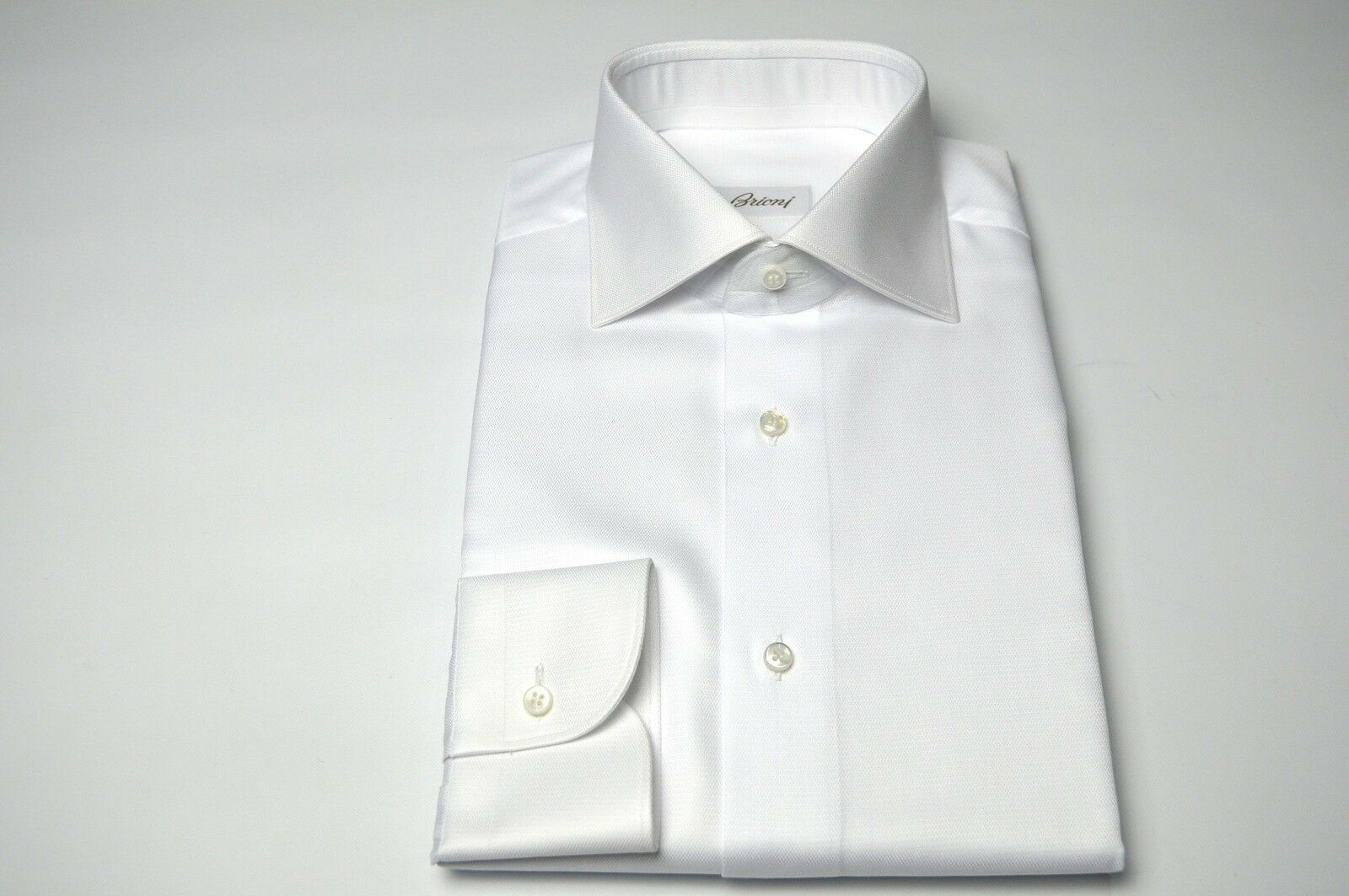 99a0c52a5 Dress White SHIRT 100% Cotton Size 16.5 Us 42 Eu (SE73) NEW BRIONI ...