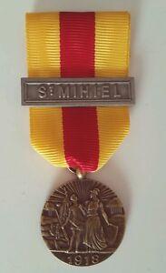 Medaille-de-saint-Mihiel-1918-modele-Delande-avec-barrette-St-Mihiel-Refrappe