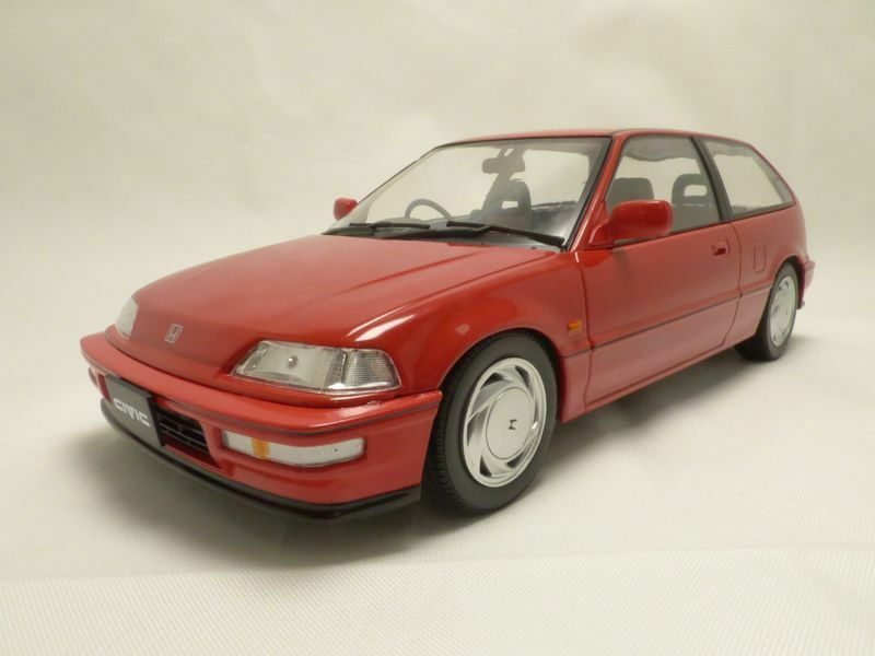 HONDA CIVIC EF9 Sir VTEC rouge 1990 1 18 RHD