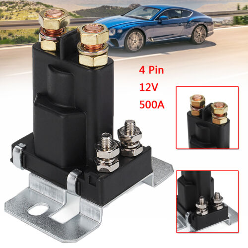 Universal 4 Pin 12V 500A Car Starter On//Off Power Switch Dual Battery Isolator