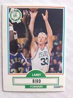 Larry Bird 1990-91 Fleer #8, NBA, Boston Celtics, MIchael Jordan